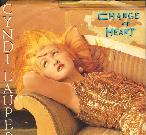 Lauper, Cyndi - Change Of Heart/Witness (with picture sleeve) - NM9/EX8 - 45 rpm Records