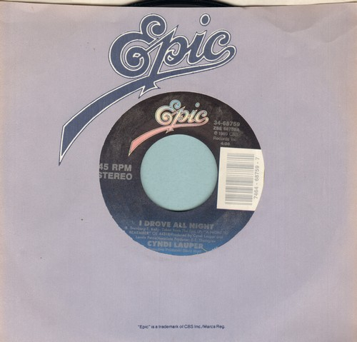 Lauper, Cyndi - I Drove All Night/Maybe He'll Know - NM9/ - 45 rpm Records