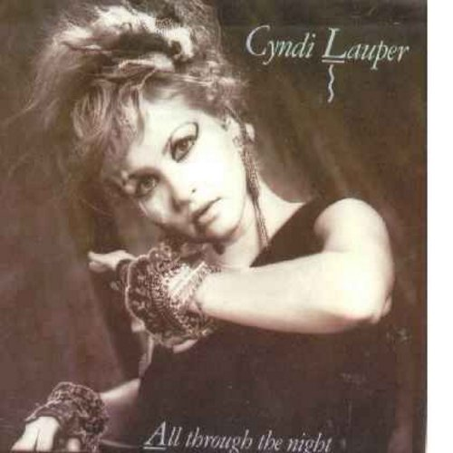 Lauper, Cyndi - All Through The Night/Witness (with picture sleeve and juke box label) - NM9/EX8 - 45 rpm Records