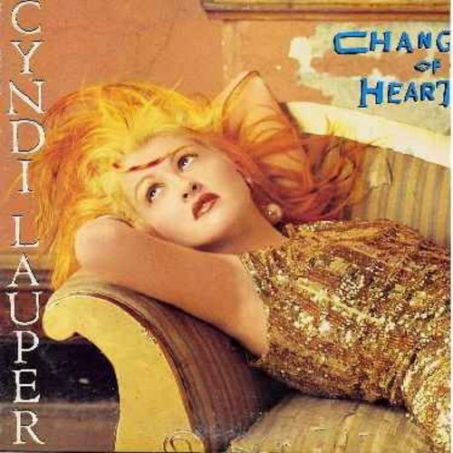 Lauper, Cyndi - Change Of Heart - 12 inch vinyl Maxi Single featuring 2 different Extended Versions of hit + 2 additional tracks - with picture cover - EX8/EX8 - Maxi Singles