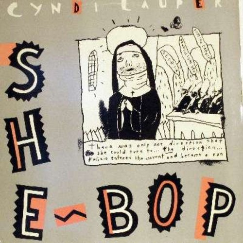 Lauper, Cyndi - She Bop (6:16 minutes Special Dub Mix)/She Bop (5:20 minutes Instrumental Mix) (12 inch vinyl Maxi Single with picture cover) - M10/NM9 - Maxi Singles