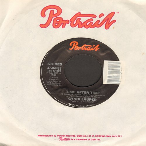 Lauper, Cyndi - Time After Time/I'll Kiss You - NM9/ - 45 rpm Records