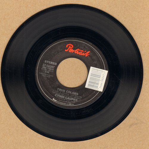 Lauper, Cyndi - True Colors/Heading For The Moon  - EX8/ - 45 rpm Records