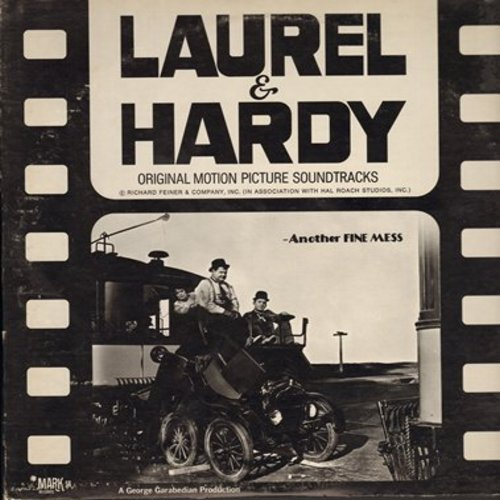 Laurel & Hardy - Laurel & Hardy - Original Motion Picture Soundtrack - Another Fine Mess (vintage recordings, re-issued) - M10/EX8 - LP Records