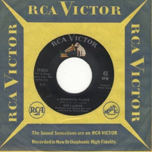 Lauren, Rod - A Wondrous Place/I Dreamed (with vintage RCA company sleeve) - EX8/ - 45 rpm Records