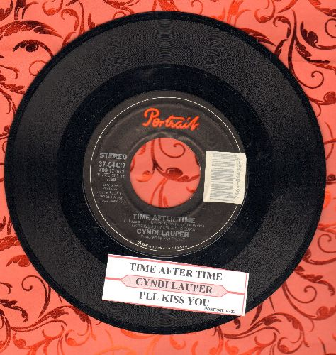 Lauper, Cyndi - Time After Time/I'll Kiss You (with juke box label) - NM9/ - 45 rpm Records