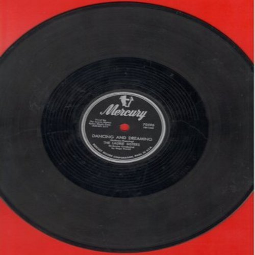 Laurie Sisters - Dancing And Dreaming/The Old Town Hall (RARE 10 inch 78 rpm record) - VG7/ - 78 rpm