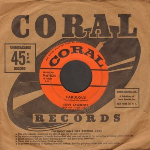 Lawrence, Steve - Fabulous/Can't Wait For Summer - EX8/ - 45 rpm Records