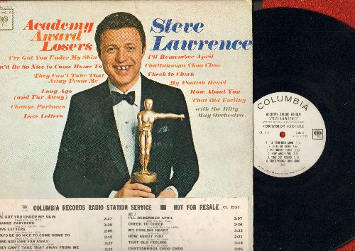 Lawrence, Steve - Academy Award Losers: Cheek To Cheek, You Can't Take That Away From Me, Love Letters (Vinyl MONO LP record, DJ advance pressing, woc) - EX8/VG6 - LP Records