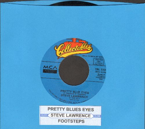 Lawrence, Steve - Pretty Blue Eyes/Footsteps (double-hit re-issue with juke box label) - NM9/ - 45 rpm Records