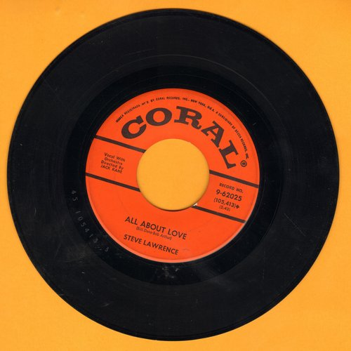 Lawrence, Steve - All About Love/Many A Time - EX8/ - 45 rpm Records
