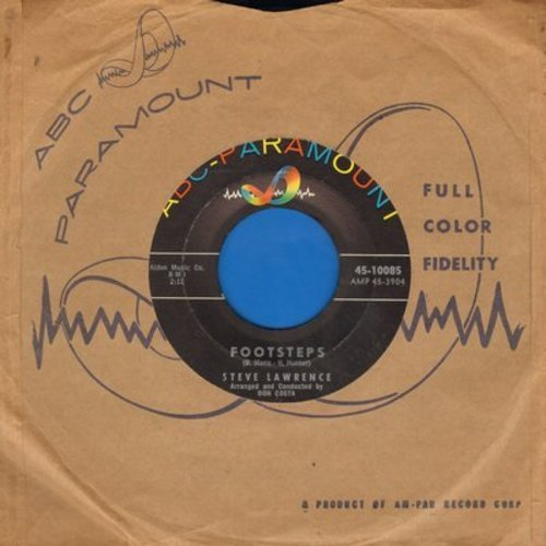 Lawrence, Steve - Footsteps/You Don't Know (with ABC-Paramount company sleeve) - NM9/ - 45 rpm Records