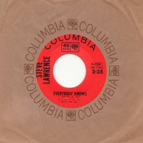 Lawrence, Steve - Everybody Knows/One Love Too Late (with Columbia company sleeve) - NM9/ - 45 rpm Records