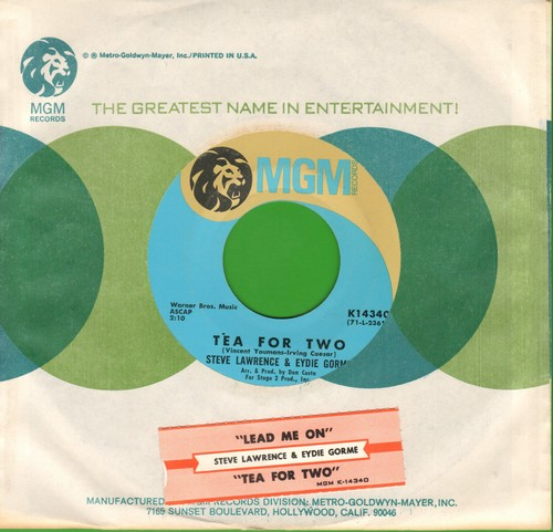 Lawrence, Steve & Eydie Gorme - Tea For Two/Lead Me On (with MGM company sleeve) - M10/ - 45 rpm Records
