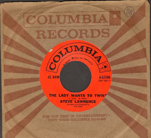Lawrence, Steve - The Lady Wants To Twist/Tell Her I Daid Hello (with Columbia company sleeve) - NM9/ - 45 rpm Records