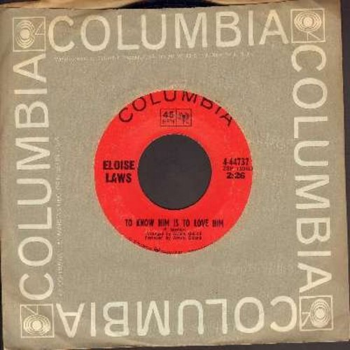 Laws, Eloise - To Know Him Is To Love Him/I'd Do It All Again (with Columbia company sleeve) - EX8/ - 45 rpm Records