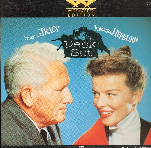 Desk Set - Desk Set - Special Wide Screen Edition LASER DISC of the Tracy/Hepburn Classic, gate-fold cover (This is a LASER DISC, not any other kind of media!) - NM9/NM9 - Laser Discs