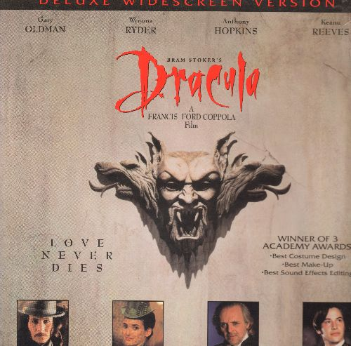 Dracula - Dracula Deluxe Double LASERDISC Starring Gary Oldman, Winona Ryder, Anthony Hopkins and Keanu Reeves - NM9/EX8 - LaserDiscs