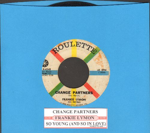 Lymon, Frankie - Change Partners/So Young (with juke box label) - VG7/ - 45 rpm Records