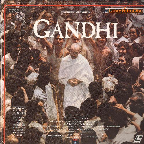 Gandhi - Gandhi Double Laser Disc Starring Ben Kingsley - NM9/EX8 - Laser Discs