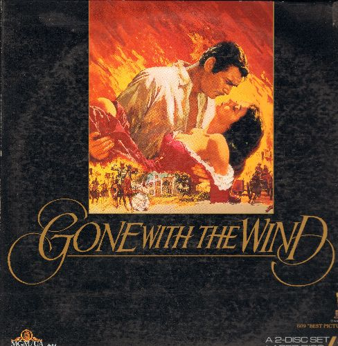 Gone With The Wind - Gone With The Wind Double LASER DISC VERSION Starring Clark Gable And Vivien Leigh (2 Laser Discs in gate-fold cover) - NM9/EX8 - Laser Discs