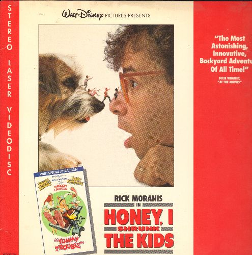 Disney - Disney's Honey I Shrunk The Kids LASERDISC VERSION Starring Rick Moranis - NM9/EX8 - LaserDiscs