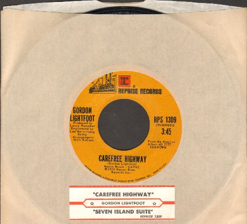 Lightfoot, Gordon - Carefree Highway/Seven Island Suite (with juke box label) - NM9/ - 45 rpm Records