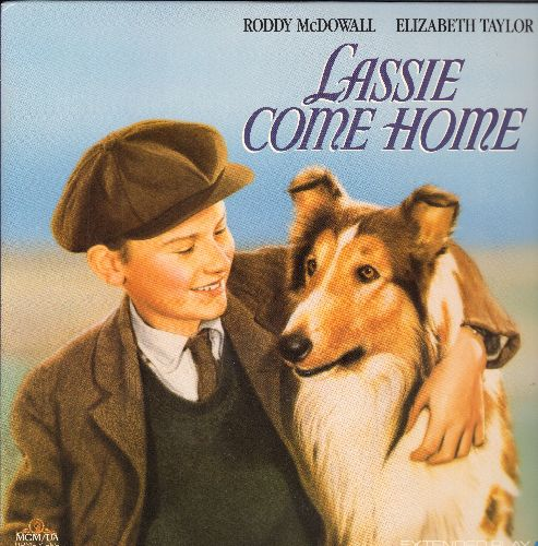 Lassie Come Home - Lassie Come Home - LASERDISC version of the Classic starring Roddy McDowell and Elizabeth Taylor. - NM9/NM9 - LaserDiscs