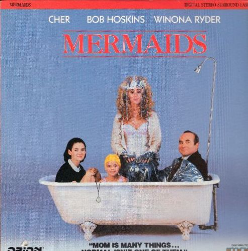 Mermaids - Mermaids - LASERDISC of the 1990 Comedy starring Cher, Bob Hoskins and Winona Ryder - This is a LASERDISC, NOT ANY OTHER KIND OF MEDIA! (small hole in lower left corner of cover) - NM9/EX8 - LaserDiscs
