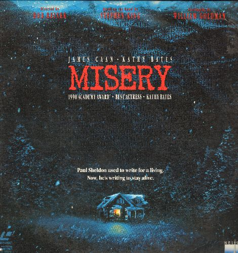 Misery - Misery LASER DISC VERSION Starring James Caan and Kathy Bates - NM9/EX8 - Laser Discs