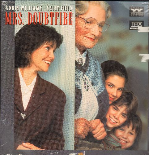 Mrs. Doubtfire - Mrs. Doubtfire Double LASER DISC VERSION (SEALED) Starring Robin Willimas And Sally Field - M10/M10 - Laser Discs