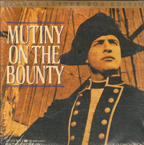 Mutiny On The Bounty - Mutiny On The Bounty Deluxe Letterbox 2 LASERDISC Starring Marlon Brando and Trevor Howard - NM9/EX8 - LaserDiscs