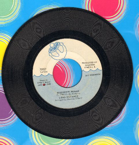 Long Distance - Mississippi Woman/Hitchin' A Ride Back To New York (bb) - EX8/ - 45 rpm Records