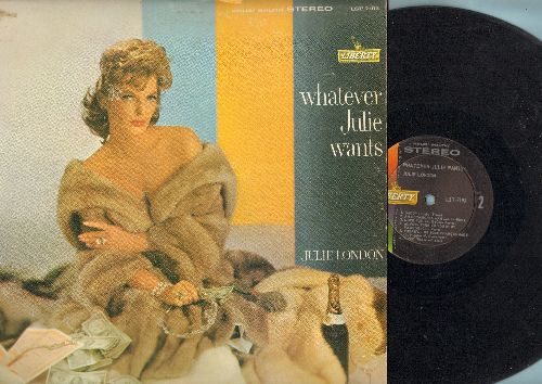 London, Julie - Whatever Julie Wants: Daddy, Why Don't You Do Right, My Heart Belongs To Daddy, Do It Again, Diamonds Are A Girl's Best Friend (vinyl STEREO LP record) - VG7/VG7 - LP Records