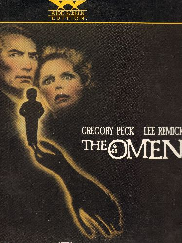 Omen - The Omen LASERDISC VERSION Starring Gregory Peck - NM9/NM9 - LaserDiscs