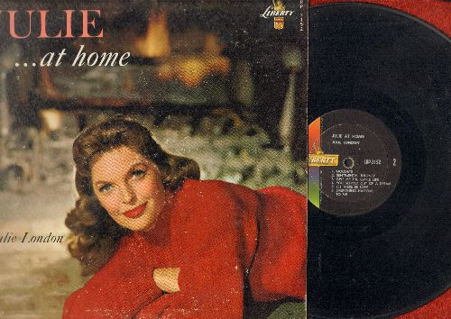 London, Julie - Julie…At Home: Lonesome Road, The Thrill Is Gone, Sentimental Journey, You'd Be So Nice To Come Home To (vinyl MONO LP record) - VG7/VG7 - LP Records