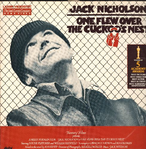 One Flew Over The Cuckoo's Nest - One Flew Over The Cuckoo's Nest Double LASERDISC starring Jack Nicholson (bottom cover seam split repair) - NM9/EX8 - LaserDiscs