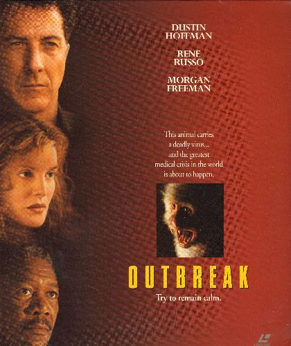 Outbreak - Outbreak Double LASER DISC VERSION Starring Dustin Hoffman, Morgan Freman, Donald Sutherland and Rene Russo - NM9/EX8 - Laser Discs