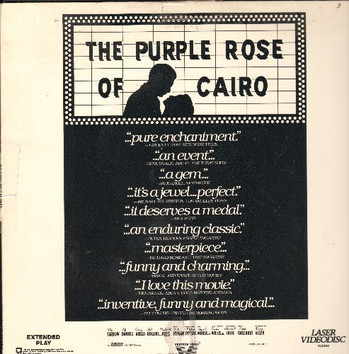 Purple Rose Of Cario - Purple Rose Of Cario LASERDISC VERSION starring Mia Farrow and Jeff Daniels - NM9/EX8 - LaserDiscs