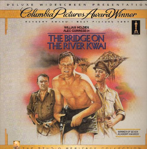 Bridge Over the River Kwai - The Brisge Over The River Kwai Widescreen Double LASERDISC VERSION Starring William Holden and Alec Guinness - NM9/EX8 - LaserDiscs
