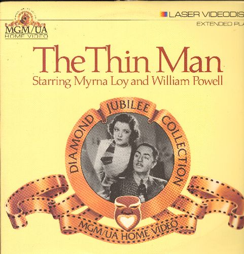 The Thin Man - The Thin Man - LASERDISC version of the Classic Myrna Loy/William Powell Screwball Comedy (This is a  LASERDISC, not any other kind of media!) - NM9/NM9 - LaserDiscs