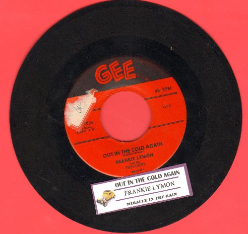 Lymon, Frankie & The Teenagers - Out In The Cold Again/Miracle In The Rain (red label first issue with juke box label) - VG7/ - 45 rpm Records