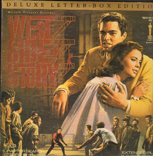 West Side Story - West Side Story Letter-Box Double LASERDISC VERSION Starring Natalie Wood, Richard Beymer, Russ Tamblyn, Rita Moreno and George Chakiris - NM9/EX8 - LaserDiscs