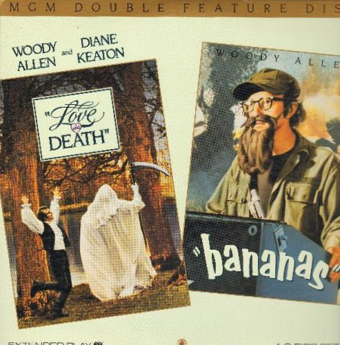 Allen, Woody - Love & Death & Bananas Double LASERDISC Starring Woody Allen (Double Feature) - NM9/EX8 - LaserDiscs