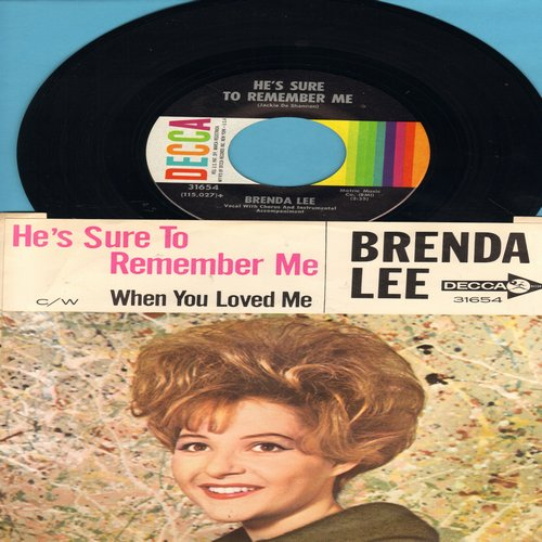 Lee, Brenda - When You Loved Me/He's Sure To Remember Me (with picture sleeve, wos) - NM9/EX8 - 45 rpm Records
