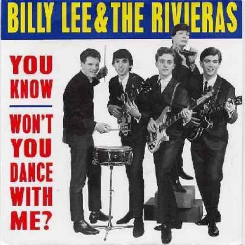Lee, Billy & The Rivieras - Won't You Dance With Me/You Know (bubble-gum color vinyl re-issue with picture sleeve) - M10/M10 - 45 rpm Records