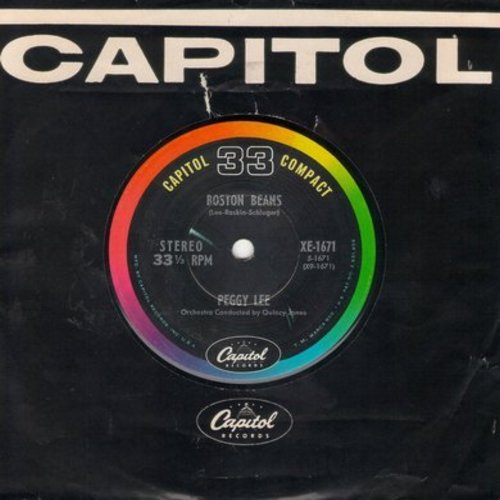 Lee, Peggy - Boston Beans/St. Louis Blues (RARE 7 inch 33rpm record with Capitol company sleeve) - EX8/ - 45 rpm Records