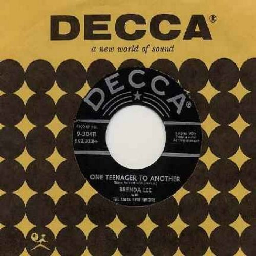 Lee, Brenda - One Teenager To Another/Ain't That Love (with vintage Decca company sleeve) - VG7/ - 45 rpm Records