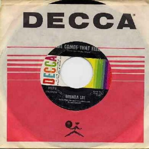 Lee, Brenda - Everybody Loves Me But You/Here Comes That Feelin' (FANTASTIC Overlooked flip-side!) (with Decca company sleeve and juke box label) - EX8/ - 45 rpm Records
