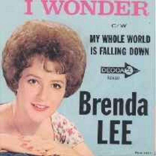 Lee, Brenda - I Wonder/My Whole World Is Falling Down (with picture sleeve) - NM9/EX8 - 45 rpm Records